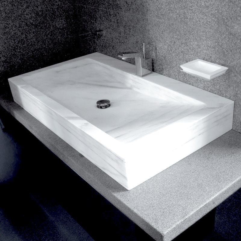 Lavabo marmo bianco statuario