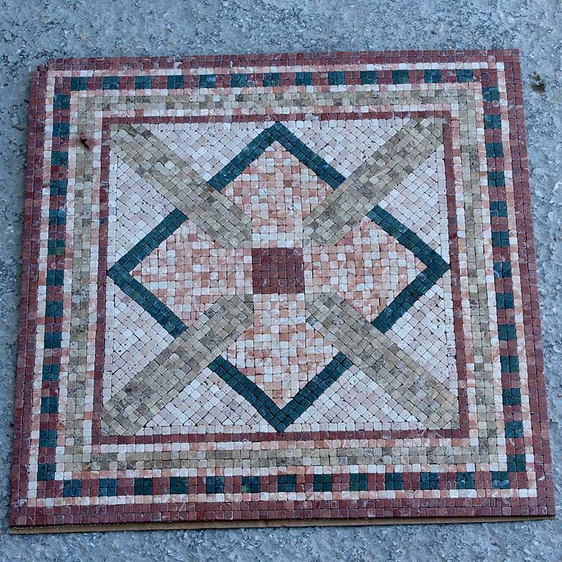 Piano tavolo rettangolare in mosaico