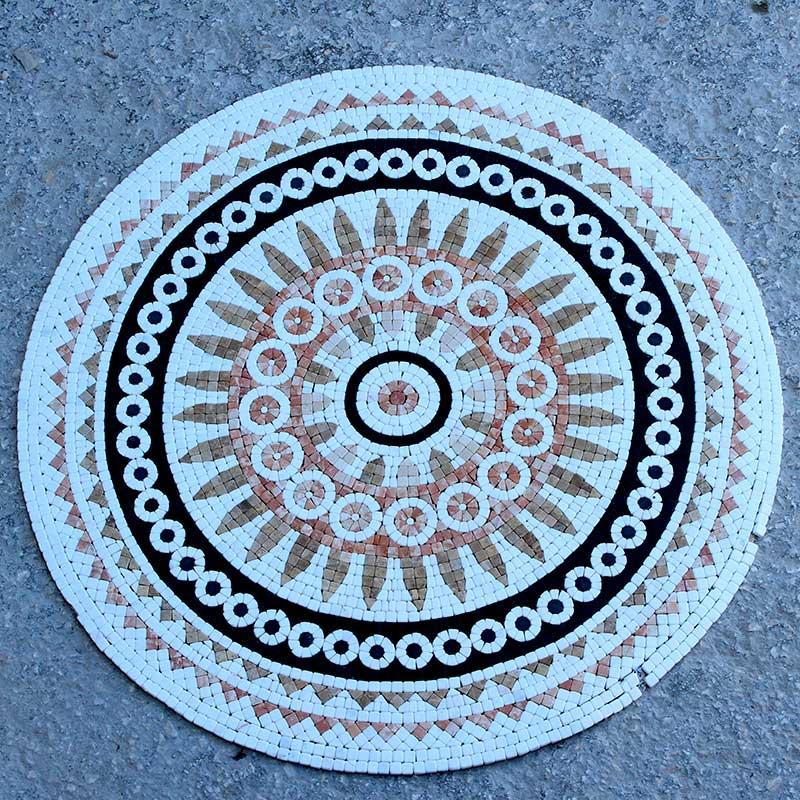 Piano tavolo in mosaico